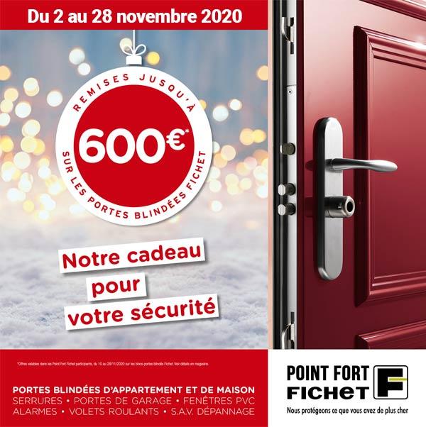 Remise 600 euros sur les portes blindées Fichet à Enghien les bains